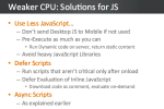 Weaker CPU - JavaScript Solutions