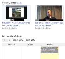 Google Developers Live Israel