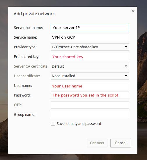 Install A VPN Server On Google Compute Engine | Ido Green