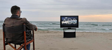 Ads at work on the beach