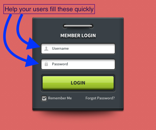 login form example