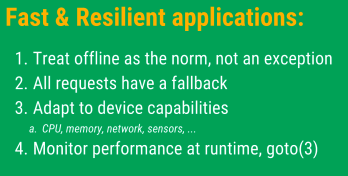 fast and resilient web apps