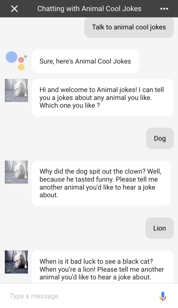 a new assistant app animal cool jokes ido green