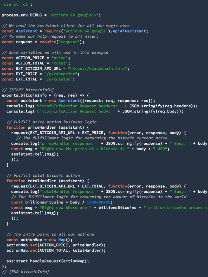 code for webhook